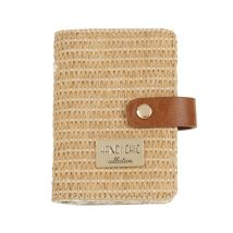 Woven Card Holder with Brown Fastening - 8x2x11cm - Maisons du Monde