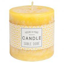 Zylindrische Kerze gelb 7 x 7 cm - Gelb - 7x7x0cm - Maisons du Monde