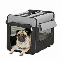 Cage de transport pour chien et chat pliable smart top plus taille s