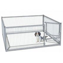 Enclos pour chiot à barreaux avec porte medium- 1,5 x 1,47 m