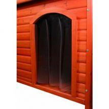 Porte pour niche chien plastique natura trixie #39533 longueur 38 cm largeur 55 cm