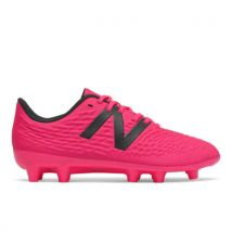 New Balance Boys Tekela V3+ Magique JNR FG - Pink/Red - Size 4.5, Pink/Red