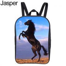Children Kids Horse Printing Book Storage School Bag Travel Rucksack Backpack-Jasper