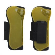 Neoprene Lined Brushing Boots Horse Full Protect Equestrian Sports (Yellow)