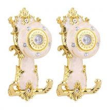 2pcs European Style Rhinestone Curtain Tiebacks Door Wall Hanger-Golden