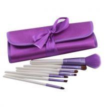 7PCS Cosmetic Makeup Brush Brushes Set Foundation Powder Eyeshadow Purple