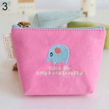 Cute Rabbit Pattern Mini Coin Purse Handbag Canvas Pouch Wallet Money Bag Case-Pink