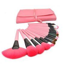 Pro 24Pcs Pouch Bag Case Superior Soft Cosmetic Makeup Brush Set Kit