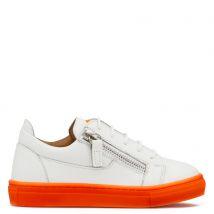 Giuseppe Zanotti FRANKIE FLUO JR. Kids Low top sneakers Orange