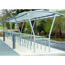 Double Side Canterbury Bike Shelter Extn Flanged / Galvanised Roof
