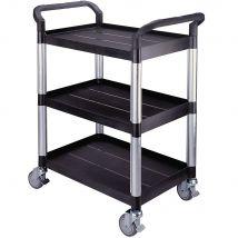 Mini 2 Shelf White Service Cart