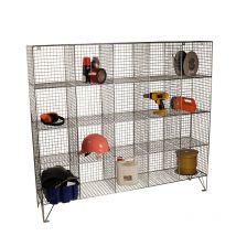 Wire Mesh Lockers with 40 Open Front Compartments 830w x 305d