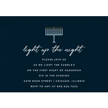 "Light Up The Night 8x6"" (20x15cm) Flat Card set of 20 (gloss cardstock), Card & Stationery square Blue"
