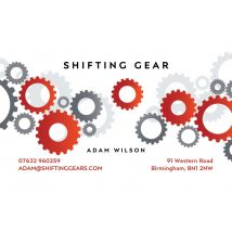 Gears Business Cards, Set of 1000, double-sided (uncoated), rounded corners, Card & Stationery White