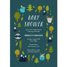 "Little Critter Baby Shower 8x6"" (20x15cm) Flat Card set of 20 (gloss cardstock), Card & Stationery square Blue"