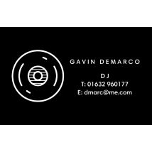 Disc Spins Business Cards, Set of 100, double-sided (uncoated), Card & Stationery square Black
