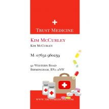 Trust Med Business Cards, Set of 100, double-sided (uncoated), Card & Stationery square Red