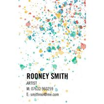 Splatter Paint Business Cards, Set of 100, double-sided (uncoated), Card & Stationery square Multi
