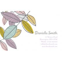 Colourful Plant Business Cards, Set of 100, double-sided (uncoated), Card & Stationery square White