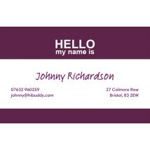 Name Tag Business Cards, Set of 1000, double-sided (uncoated), rounded corners, Card & Stationery Purple