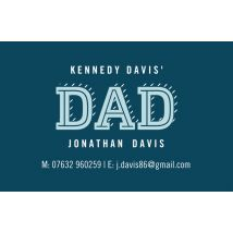 Dad Card Business Cards, Set of 100, double-sided (uncoated), Card & Stationery square Blue