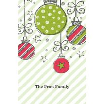 Lovely Christmas Decor Business Cards, Set of 100, double-sided (uncoated), Card & Stationery square Green