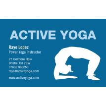 Yoga Back Bend Business Cards, Set of 100, double-sided (uncoated), Card & Stationery square Blue