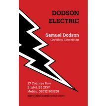 Electric Bolt Business Cards, Set of 100, double-sided (uncoated), Card & Stationery square Red