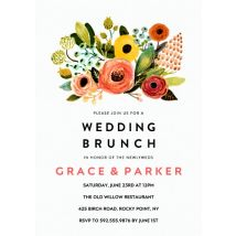 "Wedding Brunch Floral 8x6"" (20x15cm) Flat Card set of 20 (gloss cardstock), Card & Stationery square White"