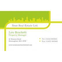 Neat Real Estate Business Cards, Set of 100, double-sided (uncoated), Card & Stationery square Green