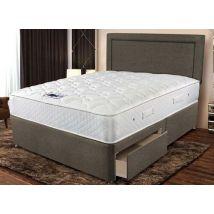 """Sleepeezee Memory Comfort 800 Pocket Divan Set - King Size (5' x 6'6""""), Side Opening Ottoman, Sleepeezee_Joshua Latte"""