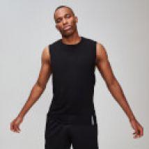 MP Luxe Classic hemd met laag uitgesneden armsgaten voor heren - Zwart - XL