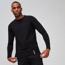 T-shirt manches longues à col ras du cou MP Luxe Classic pour hommes–Noir - L