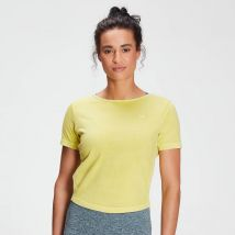 MP Women's Raw Training Washed Tie Back T-shirt - Washed Yellow
