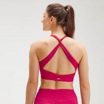 MP Women's Power Cross Back Sports Bra - Virtual Pink - XXS