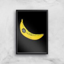 My Dad Is A Top Banana Art Print - A2 - Wood Frame