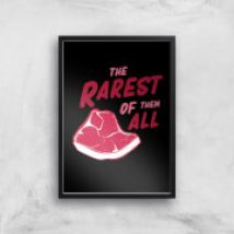 The Rarest Of Them All Art Print - A2 - Wood Frame