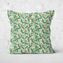 Green Jurassic Park Square Cushion 40x40cm - 50x50cm - Soft Touch