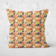 Orange Jurassic Park Square Cushion 40x40cm - 50x50cm - Soft Touch