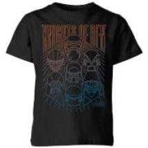 Star Wars Knights Of Ren Kids' T-Shirt - Black - 5-6 años - Negro
