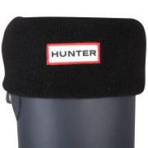 Hunter Women's Short Fleece Welly Socks - Black - L - Black