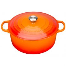 Le Creuset Signature Cast Iron Round Casserole Dish - 28cm - Volcanic