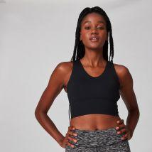 Brassière de sport longue MP Power pour femmes–Noir - XS