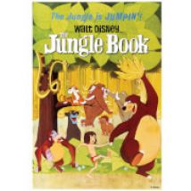 Disney Retro Vintage Jungle Book Printed Canvas Wall Art