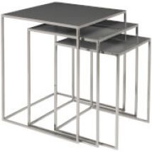 Broste Copenhagen Freja Set of Tables - Steel/Rockbridge