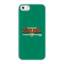 Funda Móvil Nintendo The Legend Of Zelda Retro Logo para iPhone y Android - iPhone 5/5s - Carcasa rígida - Mate