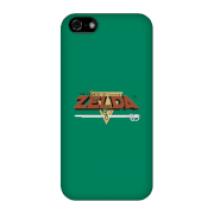 Funda Móvil Nintendo The Legend Of Zelda Retro Logo para iPhone y Android - iPhone 5C - Carcasa rígida - Mate