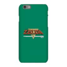 Funda Móvil Nintendo The Legend Of Zelda Retro Logo para iPhone y Android - iPhone 6S - Carcasa rígida - Mate