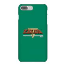 Funda Móvil Nintendo The Legend Of Zelda Retro Logo para iPhone y Android - iPhone 7 Plus - Carcasa rígida - Mate