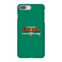 Funda Móvil Nintendo The Legend Of Zelda Retro Logo para iPhone y Android - iPhone 8 Plus - Carcasa rígida - Mate